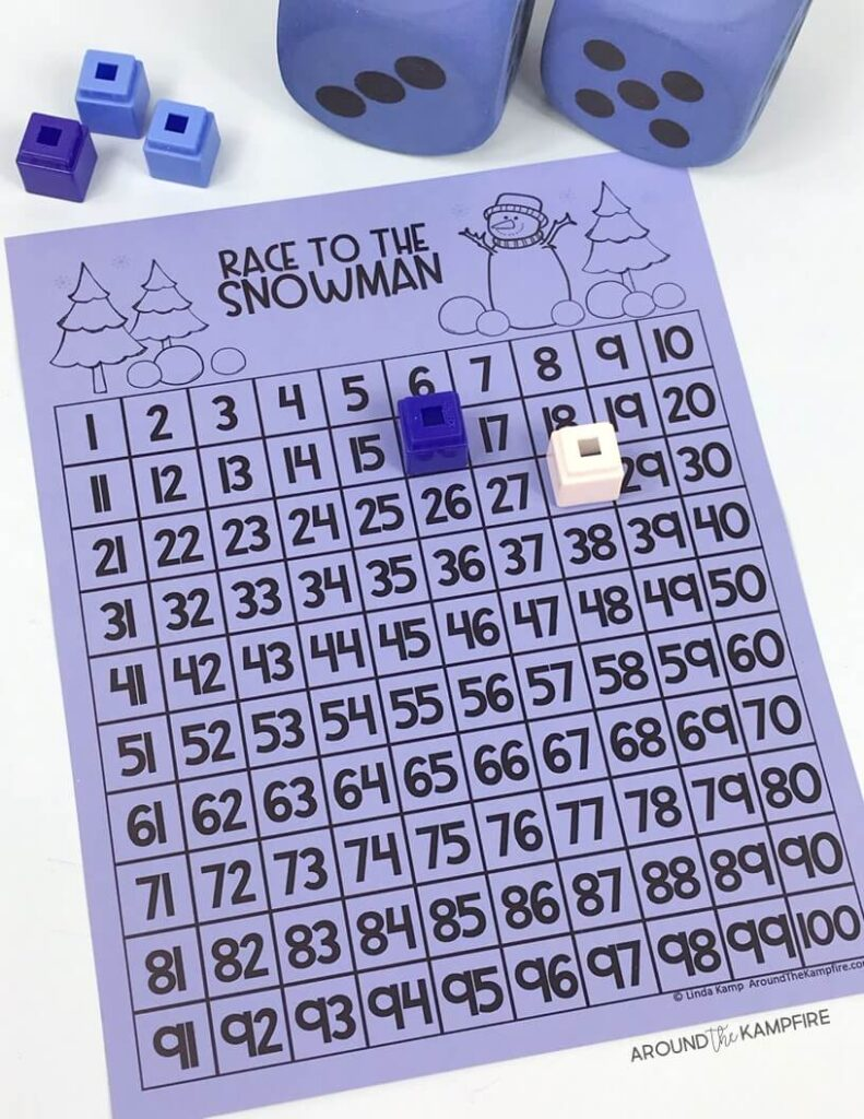 December classroom activities even students that don't celebrate holidays can do. Free winter math game