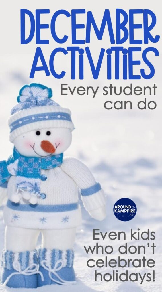 December classroom activities even students that don't celebrate holidays can do.