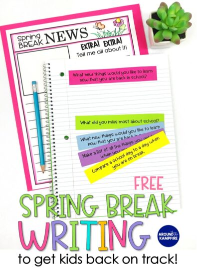 FREE Spring Break Writing Activities