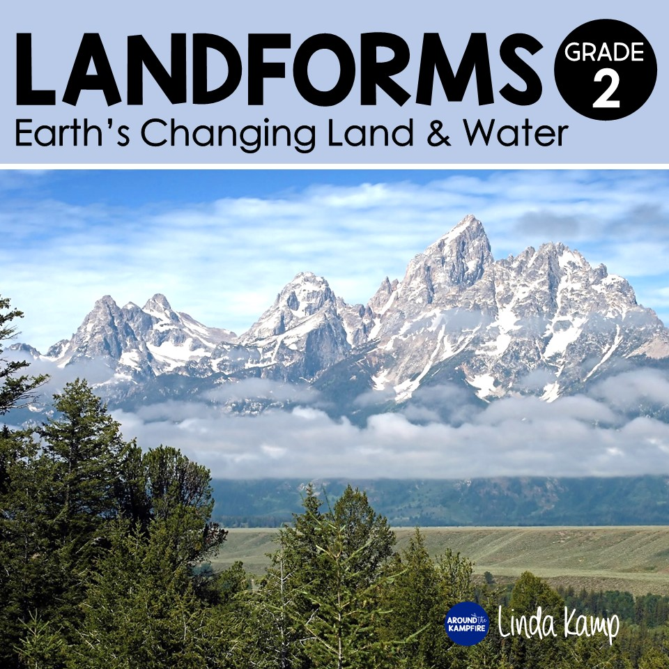 Landforms & Earth Changes 2nd Grade science unit book cover