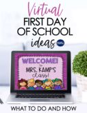 Virtual first day back to school activities and lesson plans article