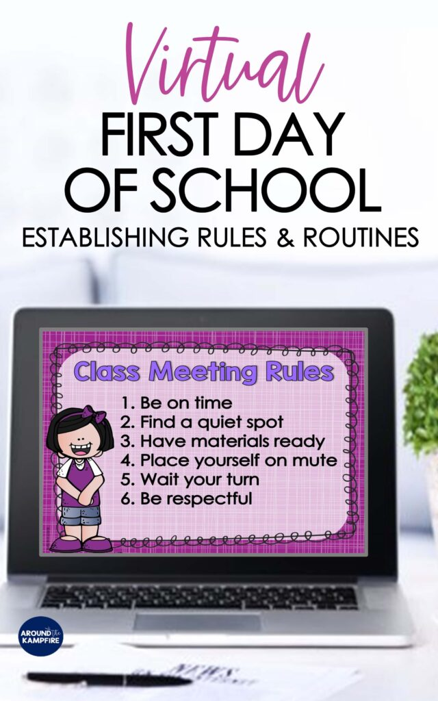 virtual first day of school Zoom meting rules