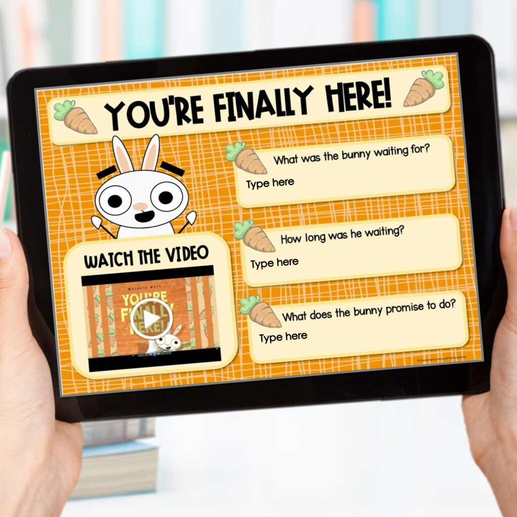 You're Finally Here digital back to school activities