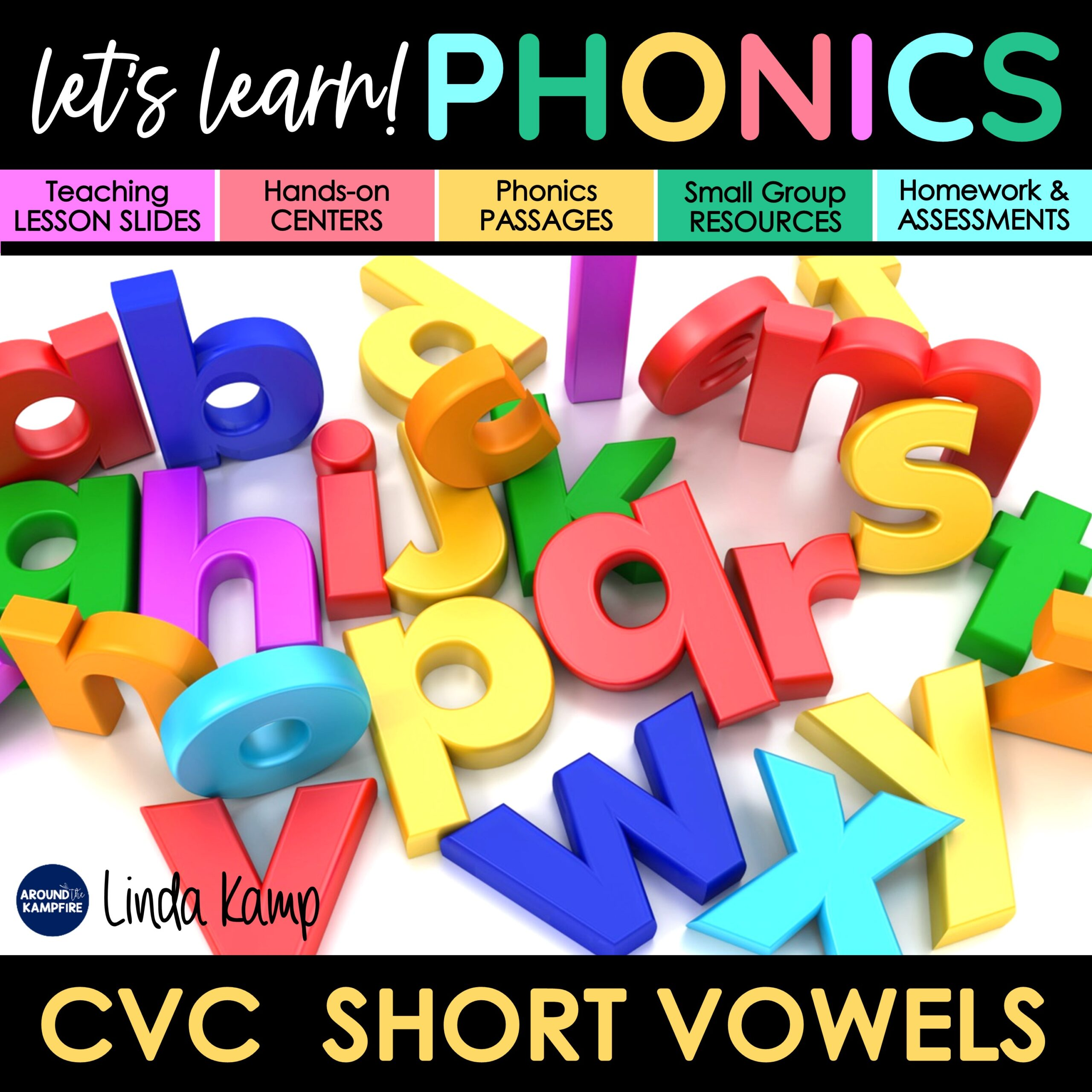 First grade phonics activities unit cover