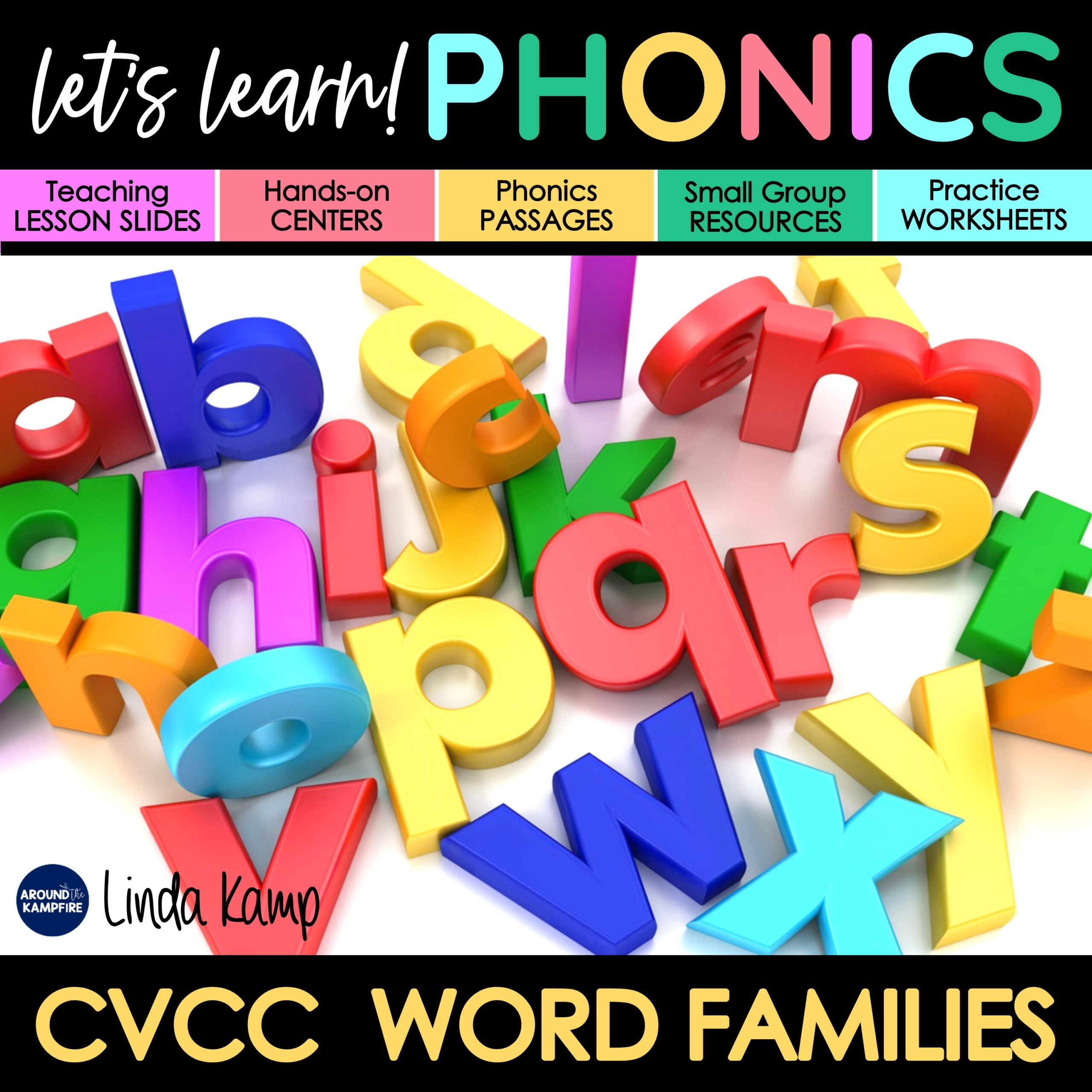 CVCC phonics activities unit cover