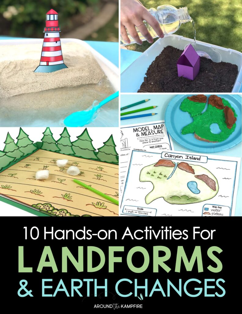 landforms and earth changes activities for kids article cover