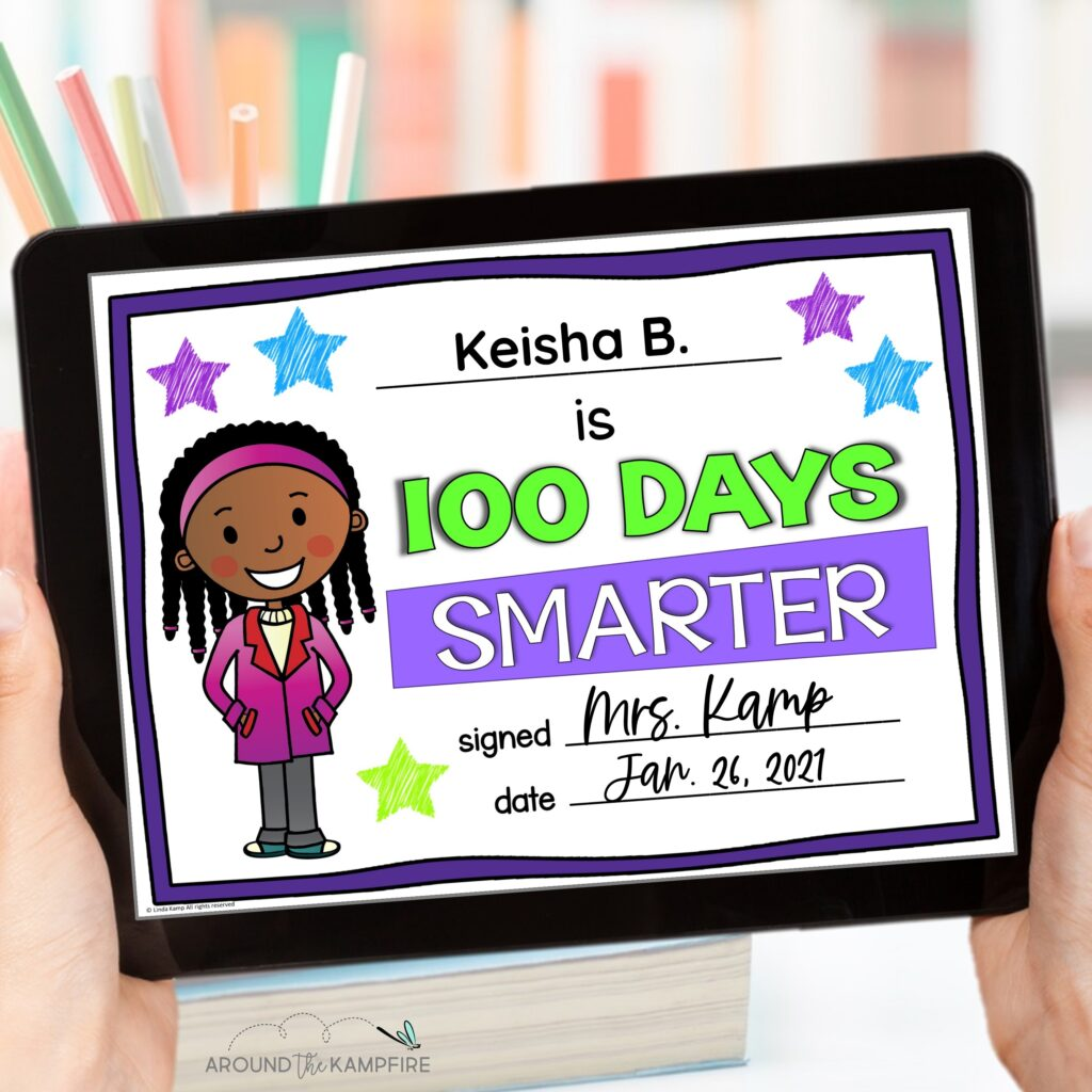 Digital 100th Days Smarter certificates