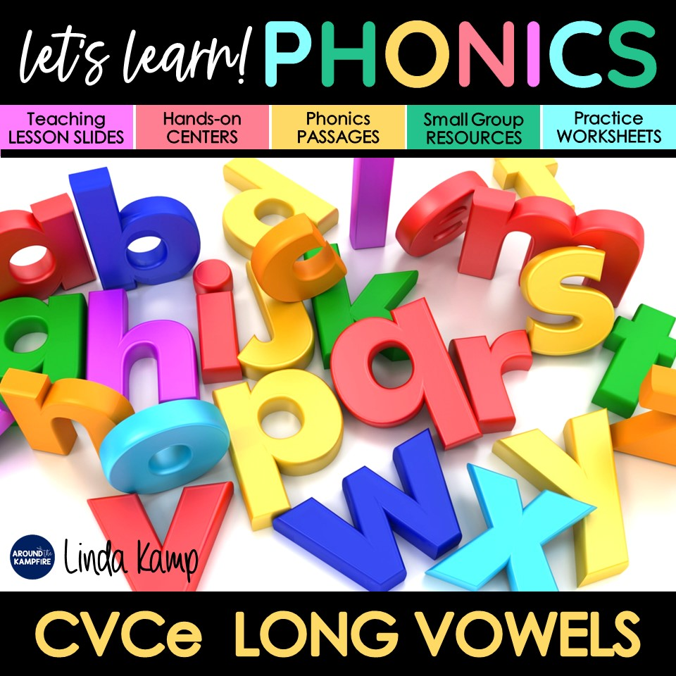 long vowels phonics activities unit cover