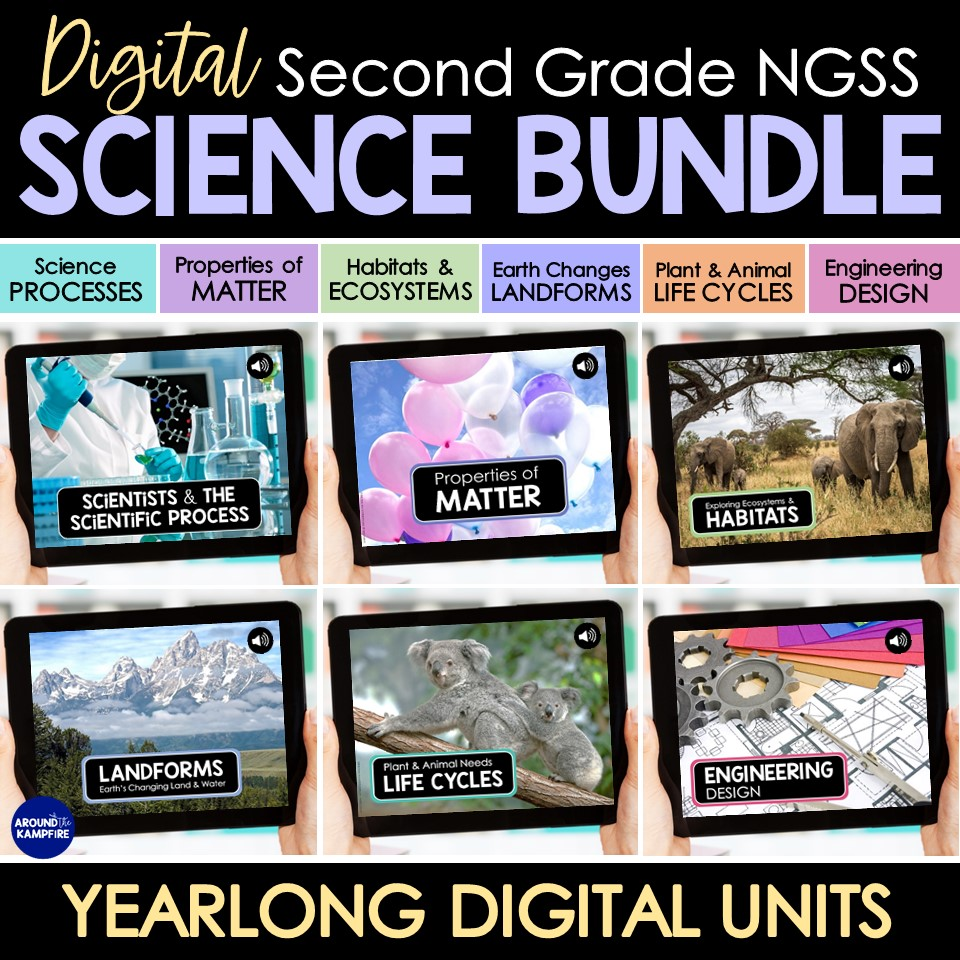 2nd Grade Science digital curriculum bundle