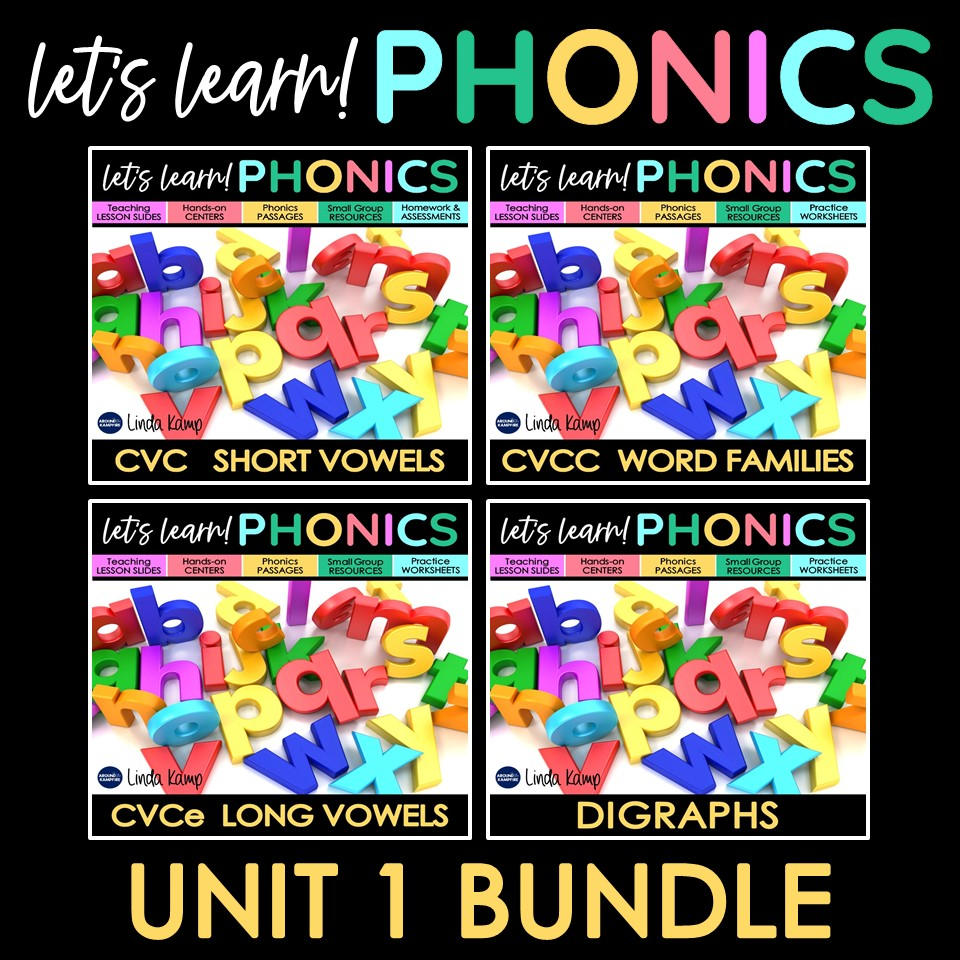 beginning phonics units bundle