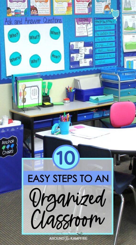 classroom organization blog post