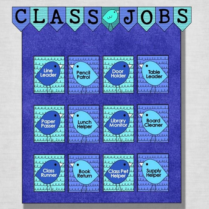 Classroom jobs chart