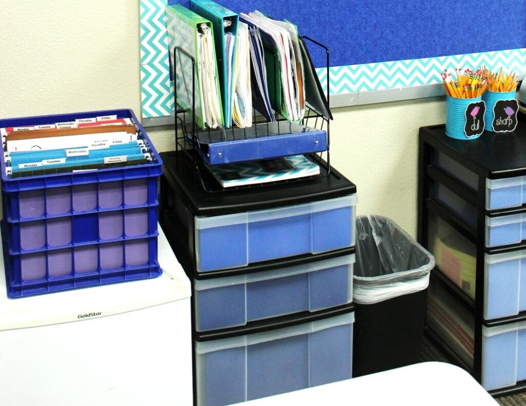 classroom organization storage bins