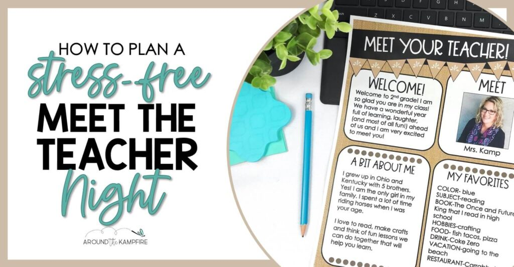 blog post article on how to plan your Meet the Teacher Night open house
