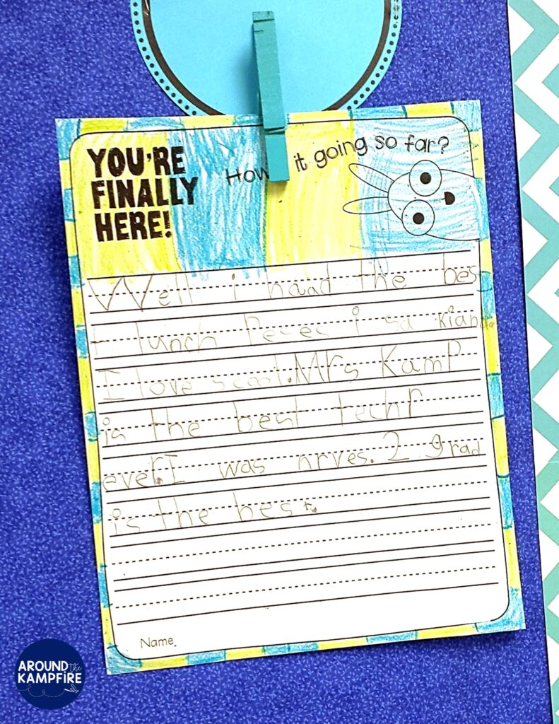 You're Finally Here back to school writing activity