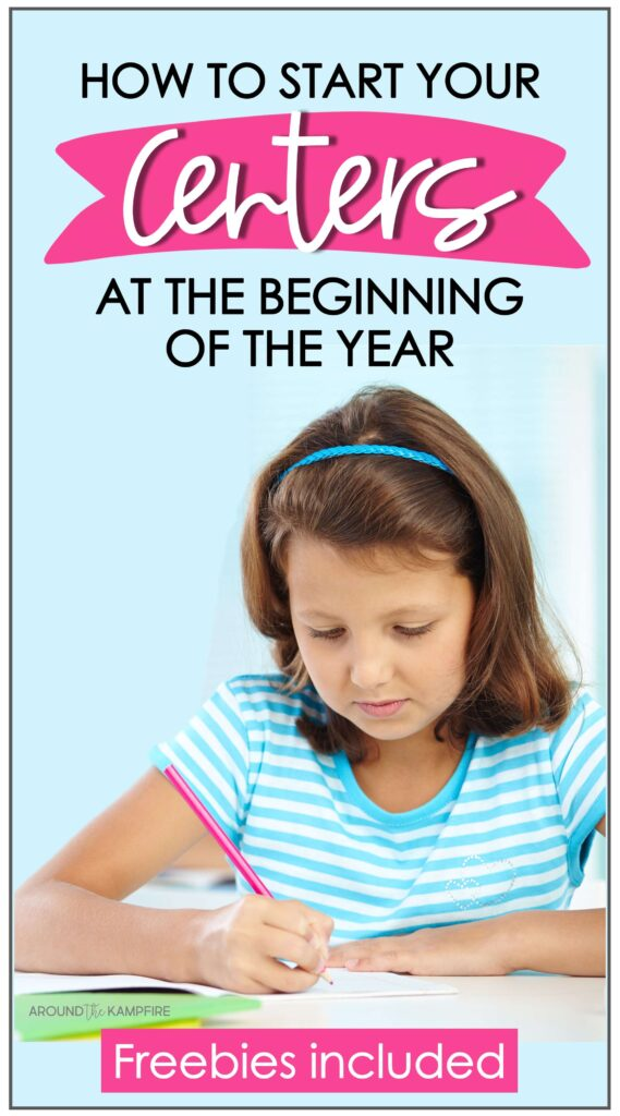 How to start your centers at the beginning of the school year article with girl doing school work