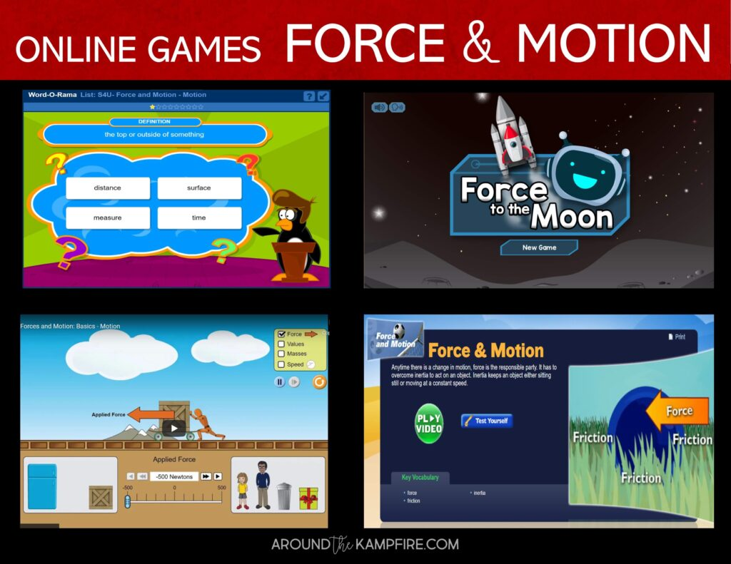Force and motion online games