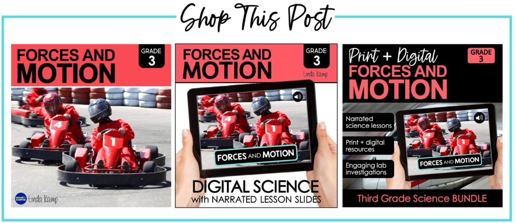 Forces and motion science curriculum and lesson plans