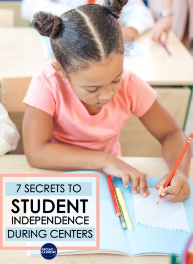 article about how to increase student engagement and student independence during centers