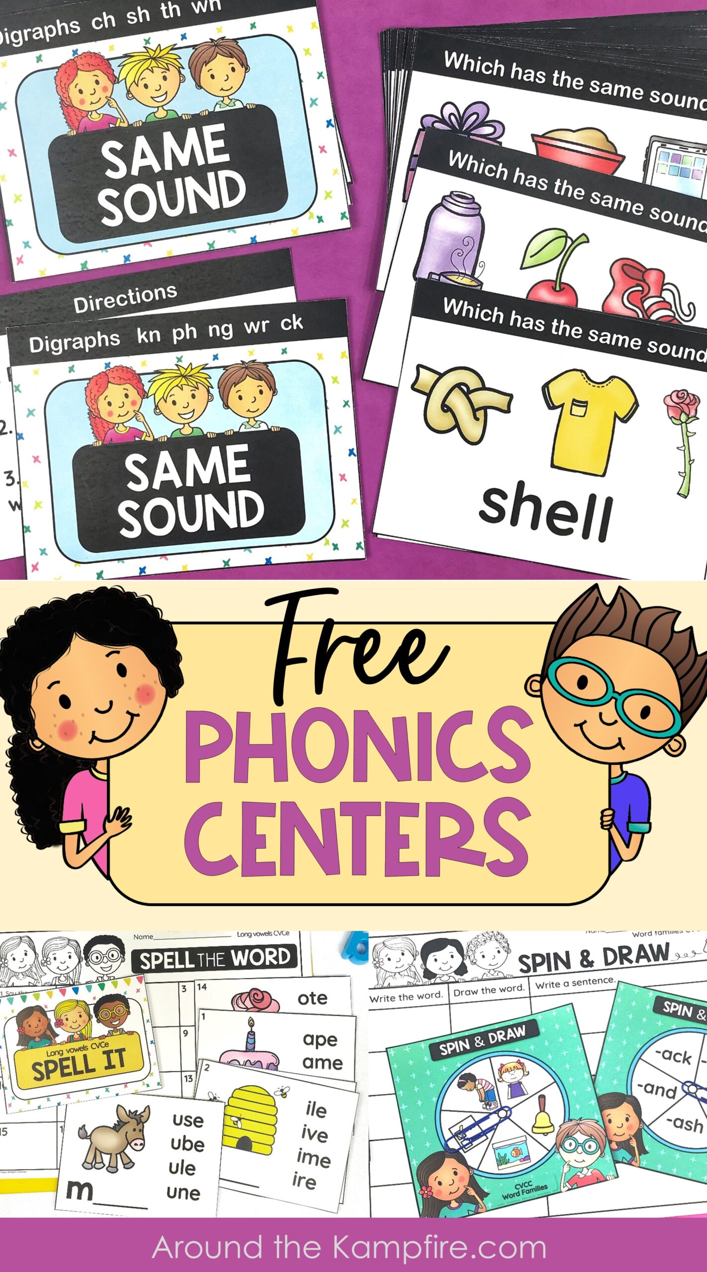 free phonics centers